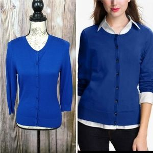 Halogen Blue Button Cardigan Small